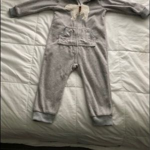 CATER'S BEAR HOODED JUMPSUIT